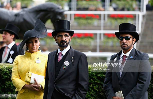 Sheikh Mohammed bin Rashid al Maktoum and guests attends Royal Ascot 2015 at Ascot racecourse on June 17 2015 in Ascot England