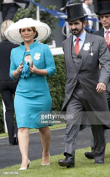 Sheikh Mohammed Bin Rashid Al Maktoum And Hrh Princess Haya Bint Al Hussein At Royal Ascot On Ladies Day Of The 2009 Meeting