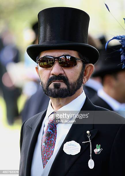 Sheikh Mohammed bin Rashid Al Maktoum attends day one of Royal Ascot at Ascot Racecourse on June 17 2014 in Ascot England