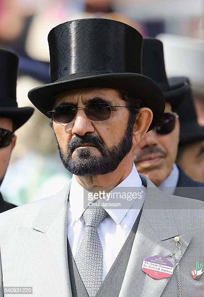Sheikh Mohammed Bin Rashid Al Maktoum in the Parade Ring on the fourth day of Royal Ascot at Ascot Racecourse on June 17 2016 in Ascot England