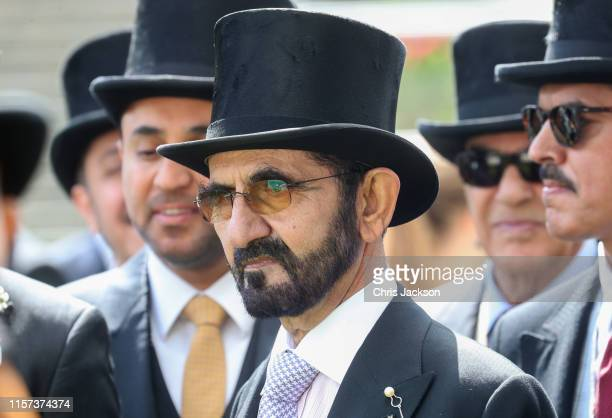 Sheikh Mohammed bin Rashid Al Maktoum on day four of Royal Ascot at Ascot Racecourse on June 21, 2019 in Ascot, England.