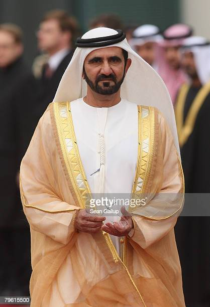 Sheikh Mohammed Bin Rashid Al Maktoum, Vice President and Prime Minister of the United Arab Emirates and Ruler of Dubai, arrives at the Chancellery...