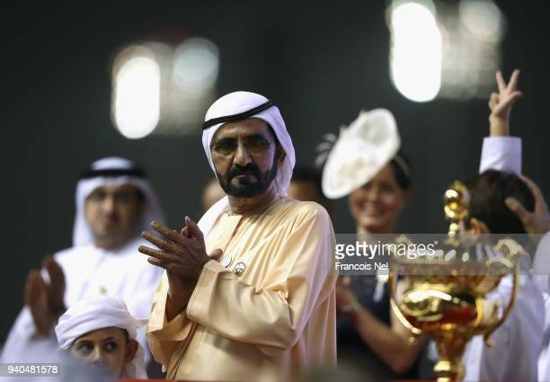 Sheikh Mohammed bin Rashid Al Maktoum, Vice President and Prime Minister of the United Arab Emirates and ruler of the Emirate of Dubai looks at the...
