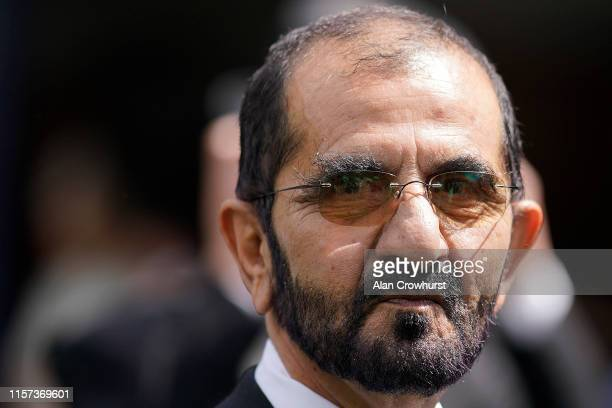 Sheikh Mohammed bin Rashid Al Maktoumm poses on day four of Royal Ascot at Ascot Racecourse on June 21, 2019 in Ascot, England.
