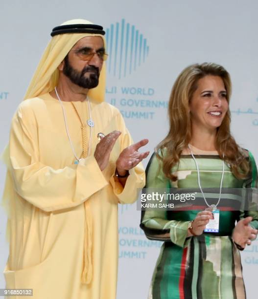 Sheikh Mohammed bin Rashid alMaktoum Vice President and Prime Minister of the United Arab Emirates and ruler of Dubai and his wife Princess Haya bint...