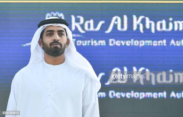 Sheikh Mohammed Bin Saud Bin Saqr Al Qasimi Crown Prince of Ras during the Awards Ceremony awaiting for Marcel Kittel who wins the Ras Al Khaimah...