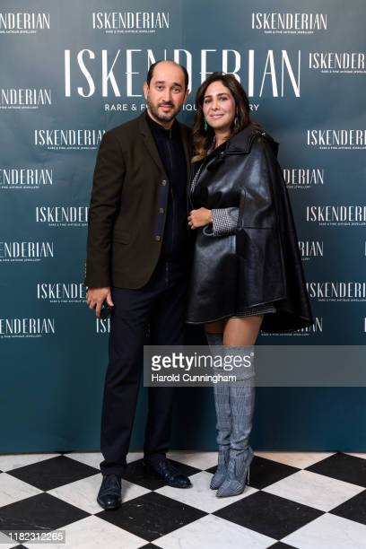Sheikh Mohammed El Khereiji and Sherine El Khereiji attend the Iskenderian Swiss Red Cross Ball and VIP Party on October 11, 2019 in Geneva,...