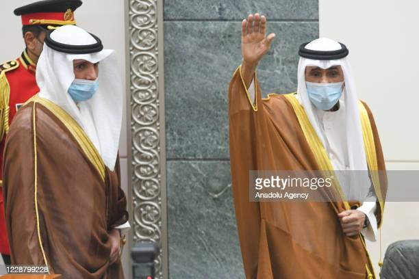 Sheikh Nawaf al-Ahmad al-Jaber al-Sabah swears in as emir of Kuwait, on September 30, 2020 in Kuwait City, Kuwait. Nawaf al-Ahmad took oath as the...