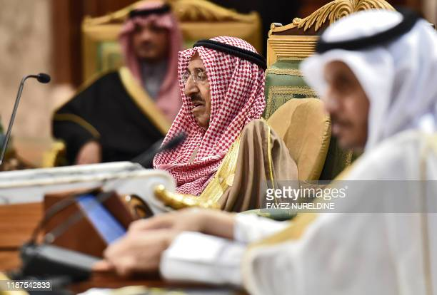 Sheikh Sabah Al-Ahmad Al-Jaber Al-Sabah , Emir of Kuwait, attends a session of the 40th Gulf Cooperation Council summit held at the Saudi capital...