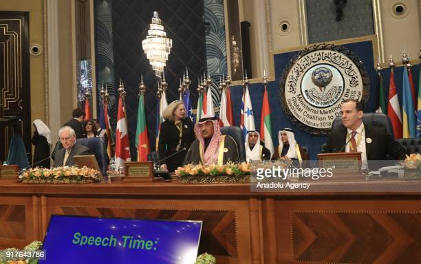 Sheikh Sabah Khalid AlHamad AlSabah Kuwaiti Minister of Foreign Affairs and US Secretary of State Rex Tillerson attend the Foreign Ministers' Meeting...