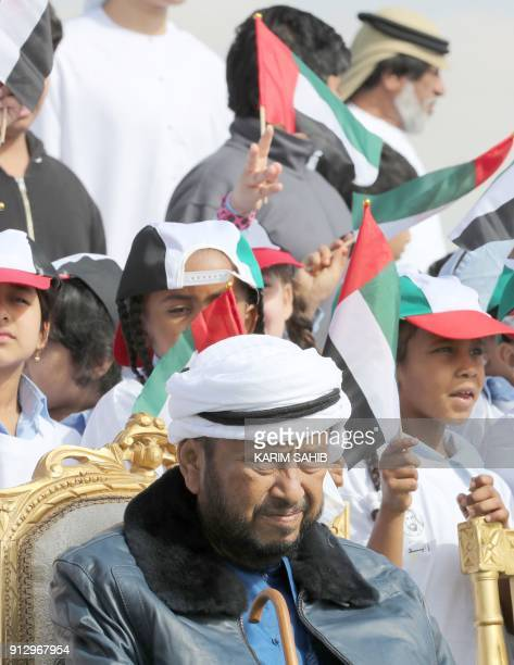 Sheikh Sultan bin Zayed alNahyan the brother of Emirati President Sheikh Khalifa bin Zayed and his representative attends the opening ceremony of the...