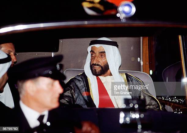 Sheikh Zayed bin Sultan al Nahyam President of the United Arab Emirates in London during his State Visit