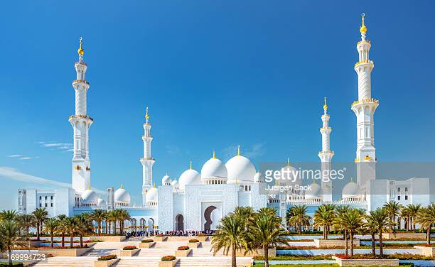 sheikh zayed grand mosque abu dhabi (uae) - mosque stock pictures, royalty-free photos & images