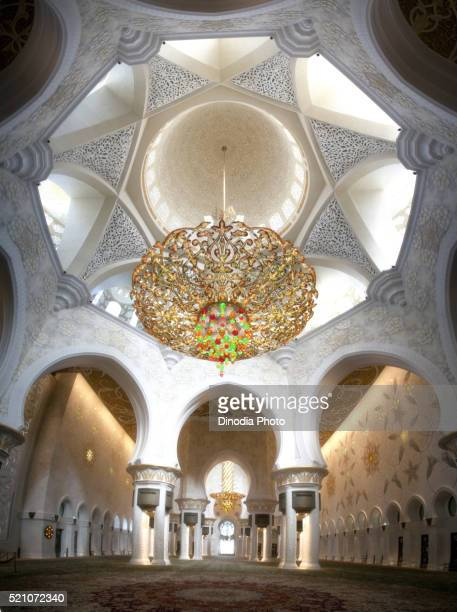 sheikh zayed grand mosque, abu dhabi - moschee stock-fotos und bilder