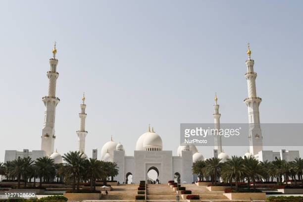 Sheikh Zayed Grand Mosque in Abu Dhabi seen on the day of the opening ADNOC stage of the inaugural UAE Tour 2019 On Sunday February 24 Abu Dhabi...