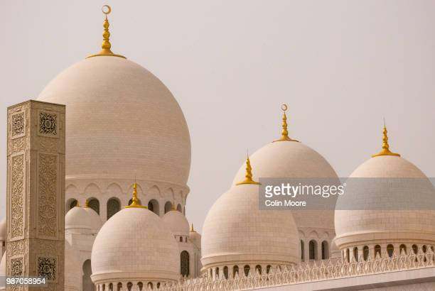 sheikh zayed grand mosque in abu dhabi, united arab emirates. - mosque stock pictures, royalty-free photos & images