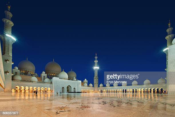 Sheikh Zayed Grand Mosque open ground. Abu Dhabi UAE