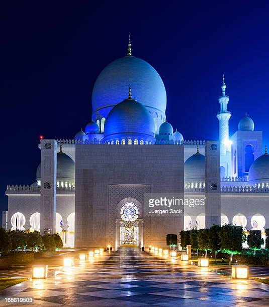 sheikh zayed mosque abu dhabi - sheikh zayed mosque stock pictures, royalty-free photos & images