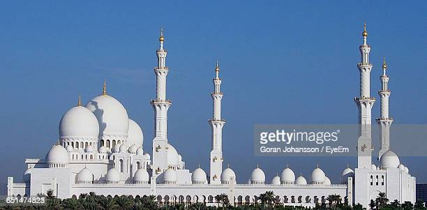 Sheikh Zayed Mosque Against Blue Sky