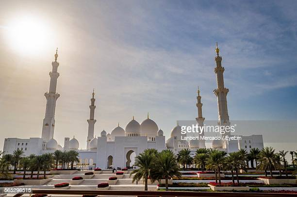 Sheikh Zayed Mosque Against Sky In City