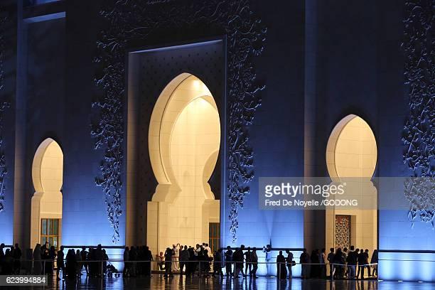 Sheikh Zayed Mosque at dusk, Abu Dhabi