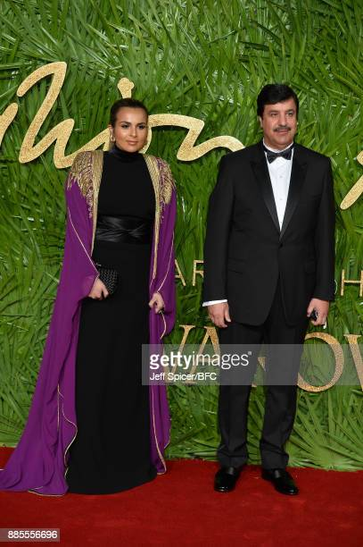 Sheikha Aisha Al Thani and Abdul Aziz Mohammed Al Rabban attend The Fashion Awards 2017 in partnership with Swarovski at Royal Albert Hall on...