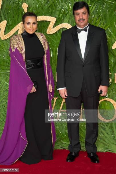 Sheikha Aisha Al Thani and Abdul Aziz Mohammed Al Rabban attends the Fashion Awards 2017 In Partnership With Swarovski at Royal Albert Hall on...