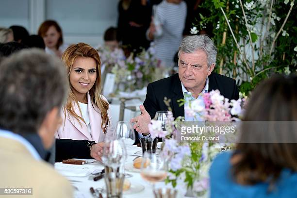 Sheikha Aisha Al Thani and Sidney Toledano attend Dior Boutique Opening celebration lunch during the 69th Annual Cannes Film Festival on May 11 2016...