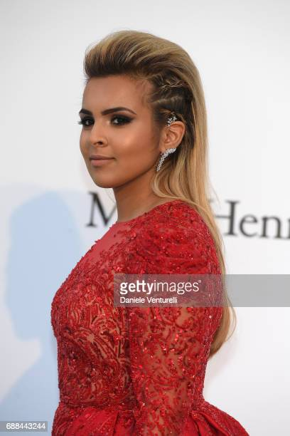 Sheikha Aisha Al Thani arrives at the amfAR Gala Cannes 2017 at Hotel du CapEdenRoc on May 25 2017 in Cap d'Antibes France