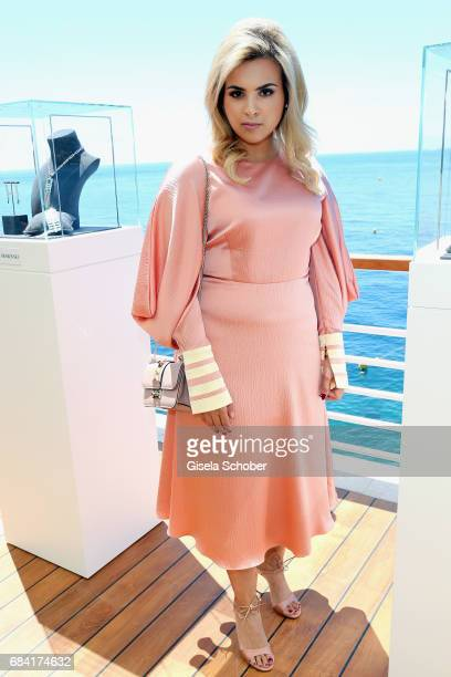 Sheikha Aisha Al Thani attends the Atelier Swarovski Lunch during the 70th annual Cannes Film Festival at Hotel du CapEdenRoc on May 17 2017 in Cap...