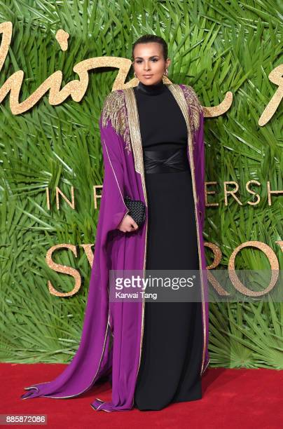 Sheikha Aisha Al Thani attends The Fashion Awards 2017 in partnership with Swarovski at Royal Albert Hall on December 4 2017 in London England
