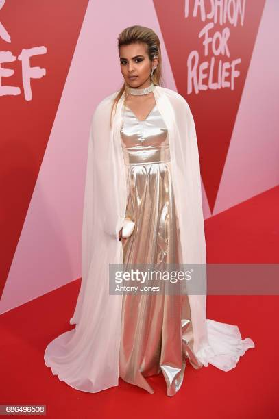 Sheikha Aisha Al Thani attends the Fashion for Relief event during the 70th annual Cannes Film Festival at Aeroport Cannes Mandelieu on May 21 2017...