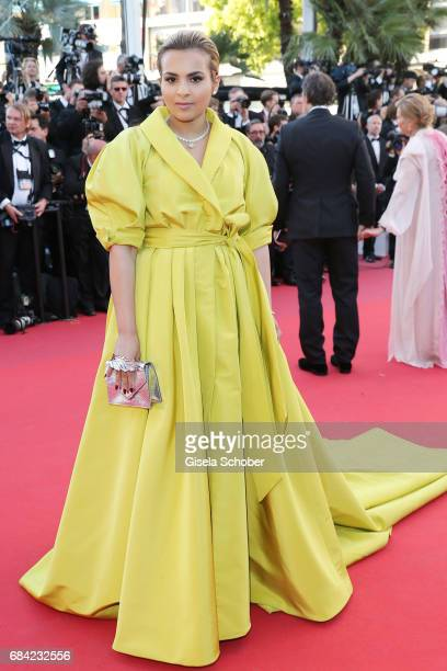 Sheikha Aisha Al Thani attends the 'Ismael's Ghosts ' screening and Opening Gala during the 70th annual Cannes Film Festival at Palais des Festivals...