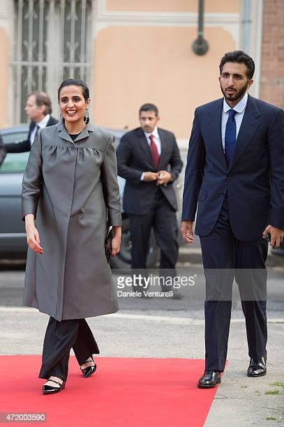 Sheikha Al Mayassa bint Hamad bin Khalifa AlThani and HE Sheikh Jassim bin Abdulaziz Al Thani attend Fondazione Sandretto Re Rebaudengo Premio...