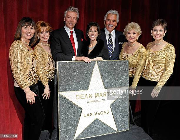 Sheila Allan and Susie Ewing members of The Golddiggers singers and dancers from The Dean Martin Show John Griffeth his wife singer Deana Martin...