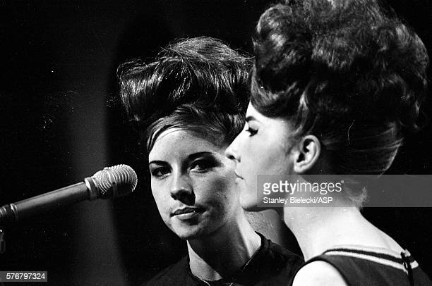 Sheila and Jeanette McKinley of The McKinleys performing on a TV show United Kingdom circa 1965