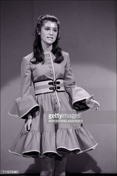 Sheila at the TV show 'Age Tendre Et Tete De Bois' in France on June 03 1968