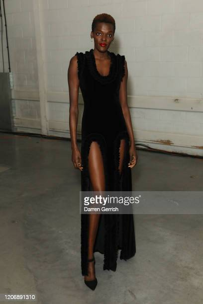 Sheila Atim attends the Christopher Kane show during London Fashion Week February 2020 on February 17 2020 in London England