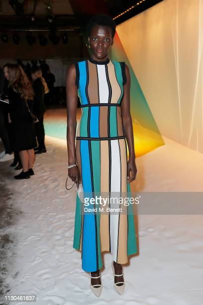 Sheila Atim attends the Roksanda show during London Fashion Week February 2019 at The Old Selfridges Hotel on February 18 2019 in London England