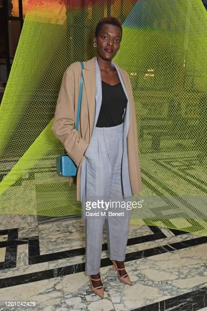 Sheila Atim attends the Roksanda show during London Fashion Week February 2020 at The British Foreign and Commonwealth Office on February 16 2020 in...
