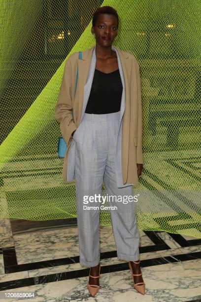 Sheila Atim attends the Roksanda show during London Fashion Week February 2020 on February 16 2020 in London England
