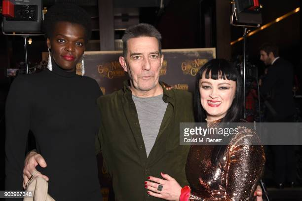 Sheila Atim Ciaran Hinds and Bronagh Gallagher attend the after party of Bob Dylan and Conor McPherson's 'Girl from the North Country' at Mint Leaf...