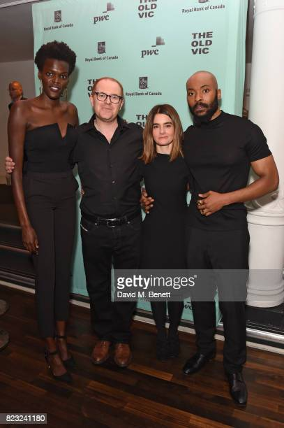 Sheila Atim Conor McPherson Shirley Henderson and Arinze Kene attend the press night after party for 'Girl From The North Country' at The Old Vic...
