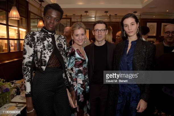 Sheila Atim Denise Gough designer Erdem Moralioglu and Elisa Lasowski attend the official Erdem London Fashion Week dinner at J Sheekey Atlantic Bar...