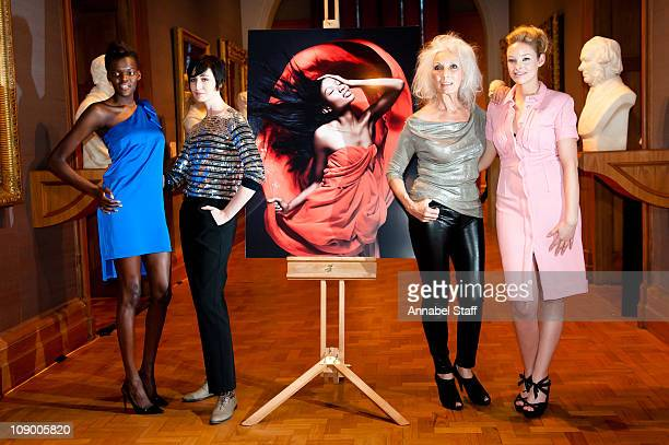 Sheila Atim Erin OConnor Valerie Pain and Kirsty McLennan pose at a photo call for All Walks Beyond The Catwalk at National Portrait Gallery on...