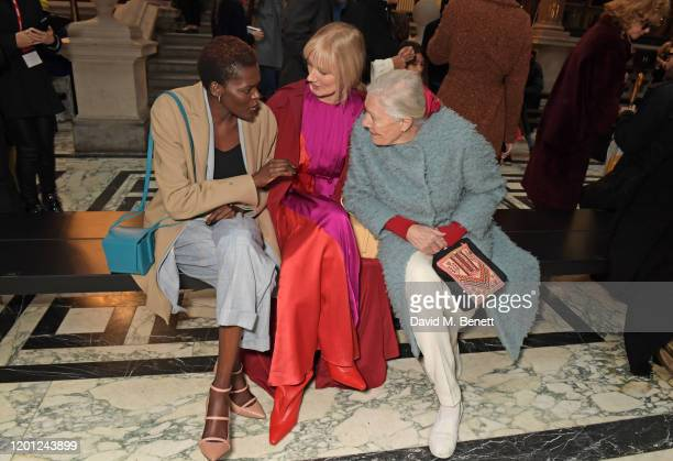 Sheila Atim Joely Richardson and Vanessa Redgrave attend the Roksanda show during London Fashion Week February 2020 at The British Foreign and...
