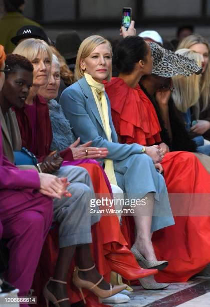Sheila Atim Joely Richardson Vanessa Redgrave Cate Blanchett and Zawe Ashton it front row for the Roksanda Show during London Fashion Week February...