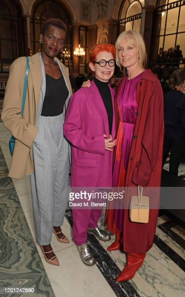 Sheila Atim Sandy Powell and Joely Richardson attend the Roksanda show during London Fashion Week February 2020 at The British Foreign and...
