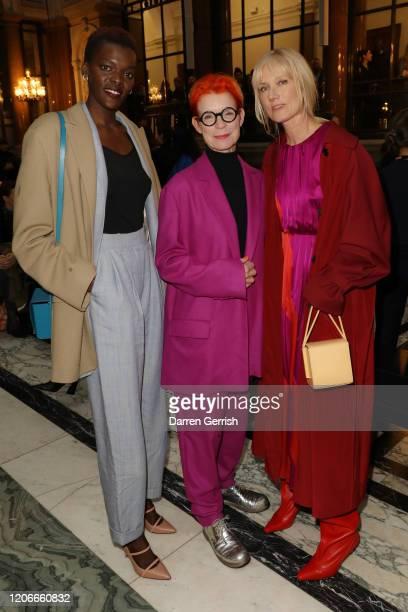 Sheila Atim Sandy Powell and Joely Richardson attend the Roksanda show during London Fashion Week February 2020 on February 16 2020 in London England