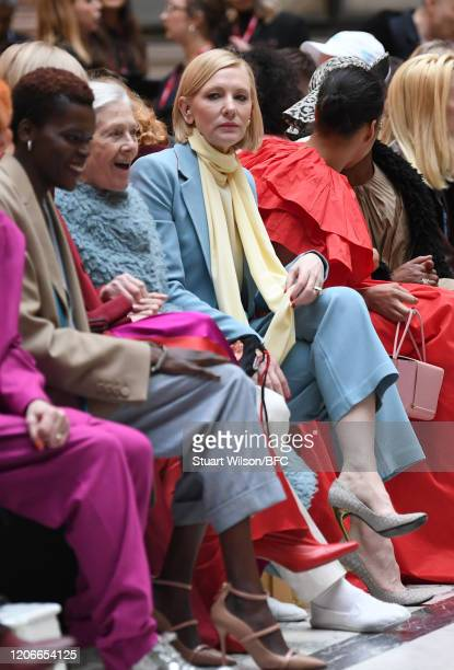 Sheila Atim Vanessa Redgrave and Cate Blanchett sit front row for the Roksanda Show during London Fashion Week February 2020 on February 16 2020 in...